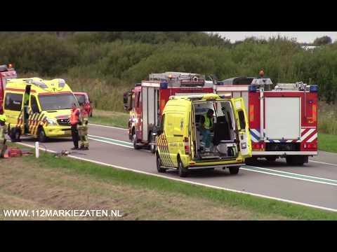 Gewonden bij eenzijdig ongeval op de Oesterdam bij Tholen