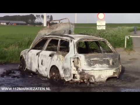 Auto volledig uitgebrand in Sint-Annaland, auto vermoedelijk gestolen en gedumpt