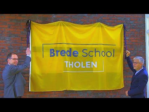 Onthulling officiële steen Brede School Tholen - Omroep Tholen